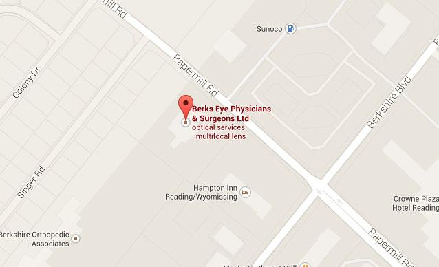 Berks Eye Physicians & Surgeons Map