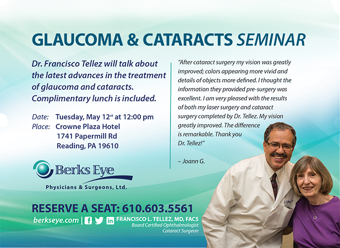 Dr. Tellez with cataract glaucoma patient