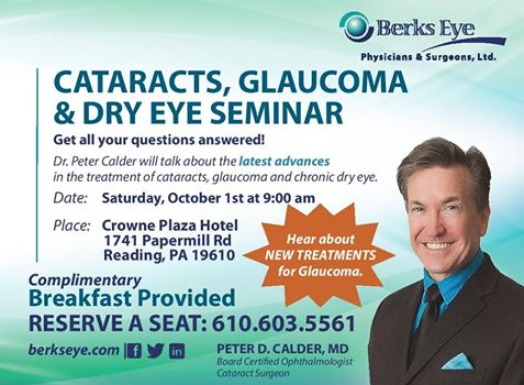 Picture of Dr. Calder for Cataracts, Glaucoma and Dry Eye Seminar