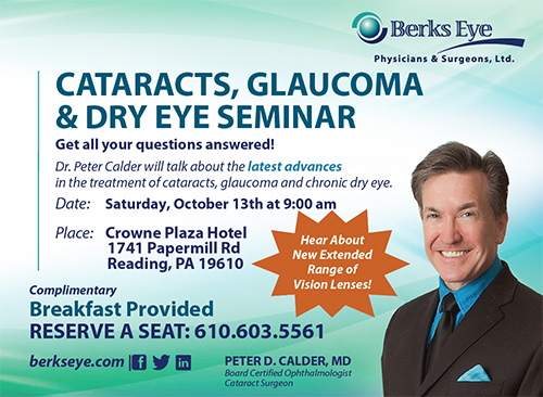 Cataracts, Gluacoma & Dry Eye Seminar